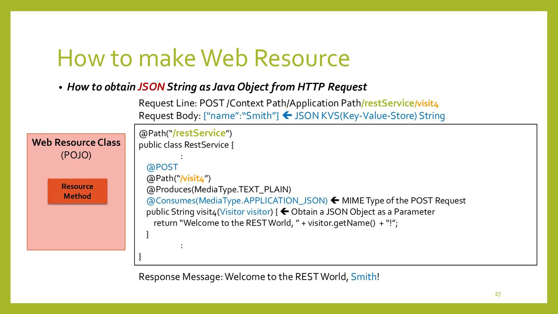 How to make Web Resource • Output Types in HTTP...