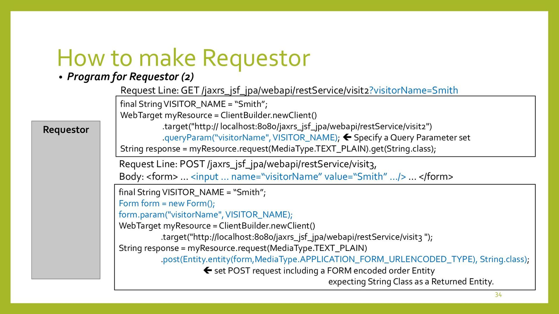How to make Requestor • Program for Requestor (...