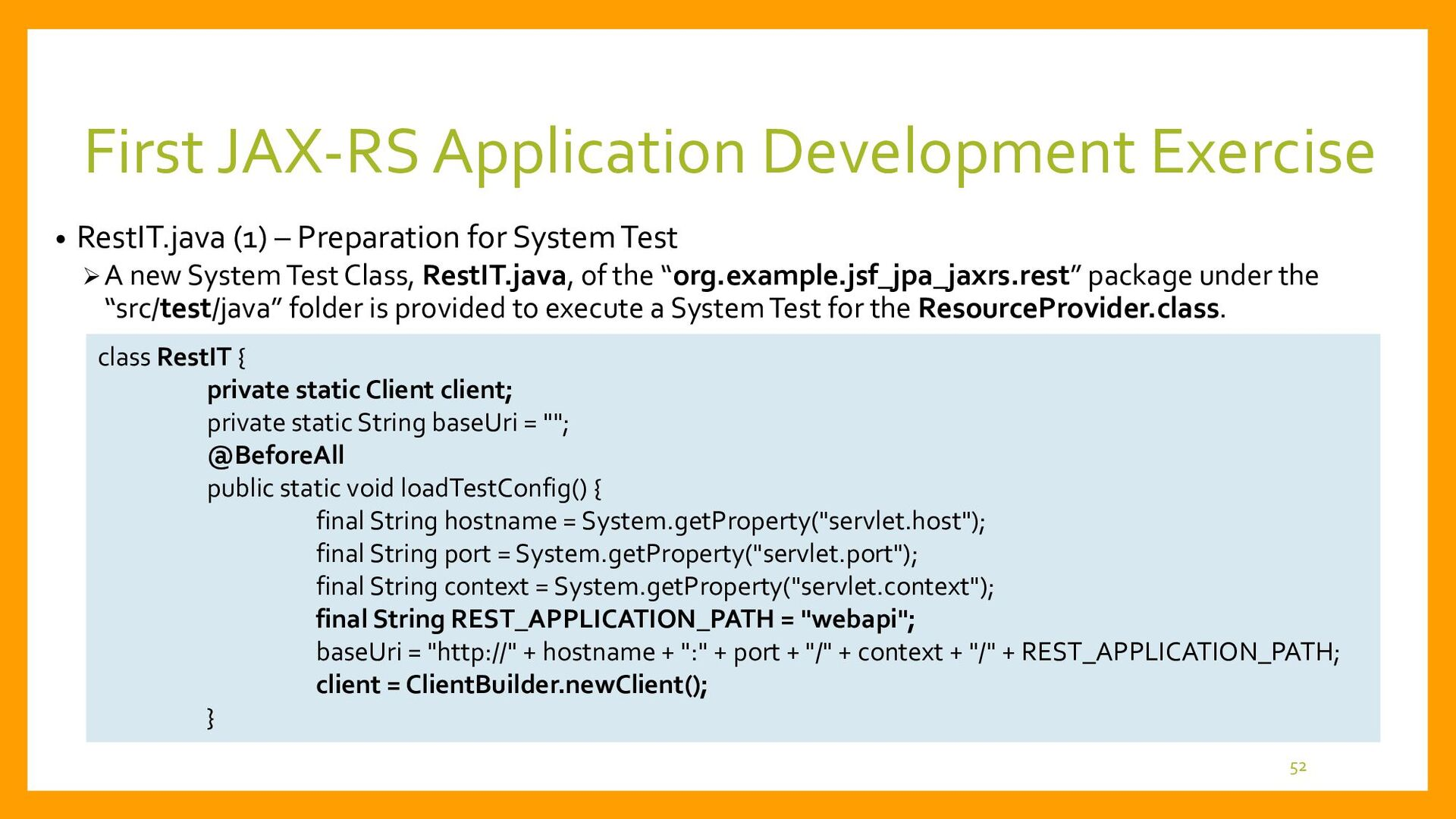 First JAX-RS Application Development • Change t...