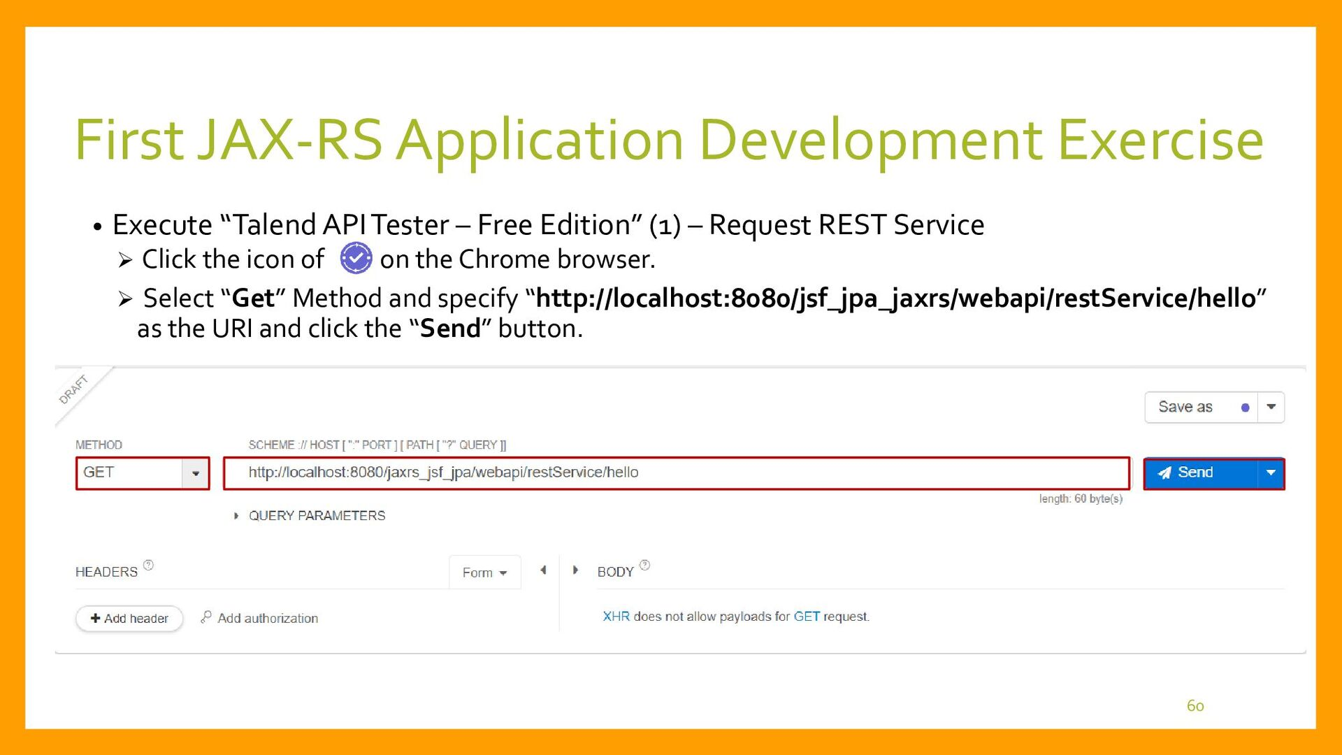 First JAX-RS Application Development • Execute ...