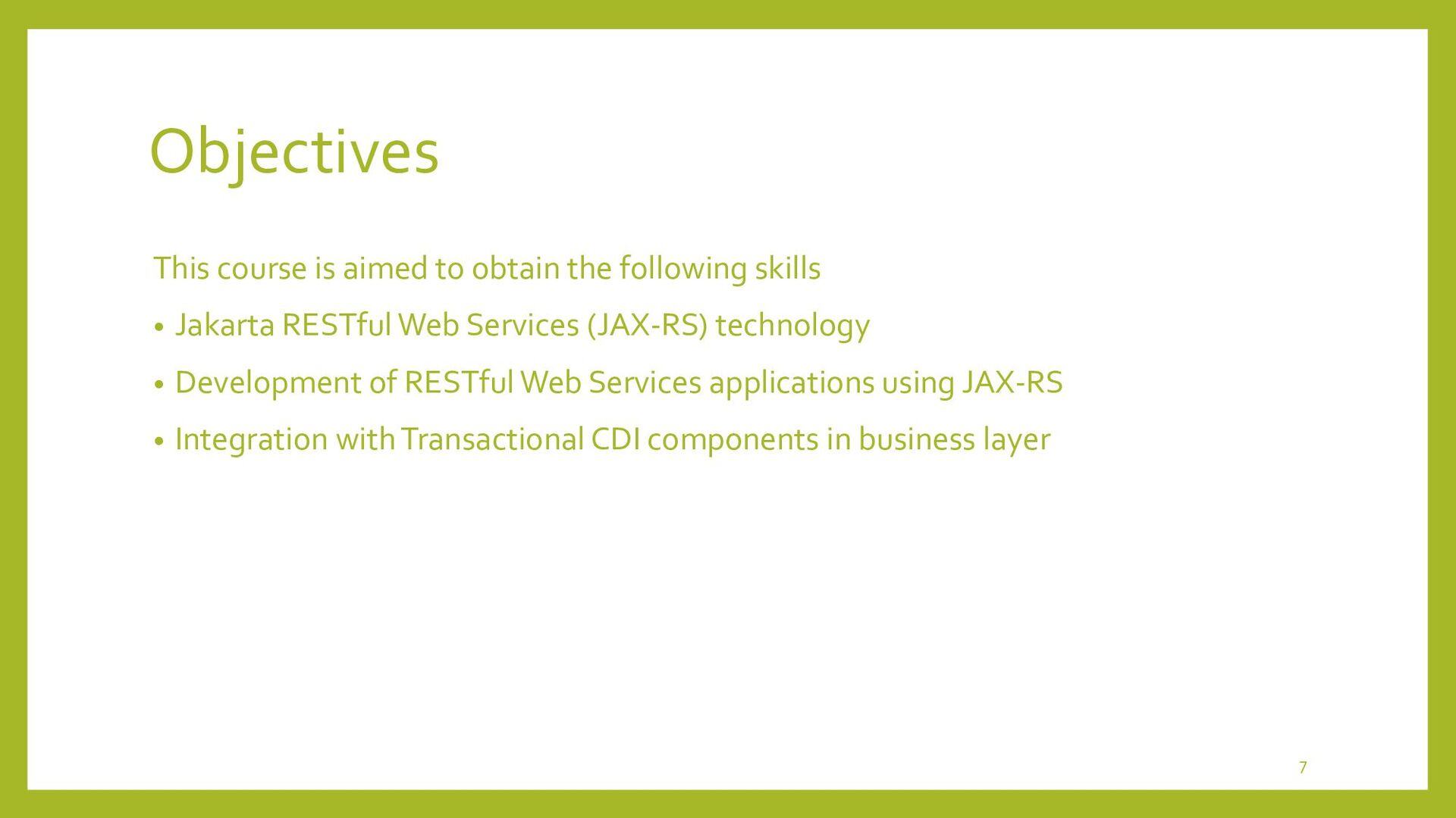 JAX-RS • Concept of Jakarta RESTful WebServices...