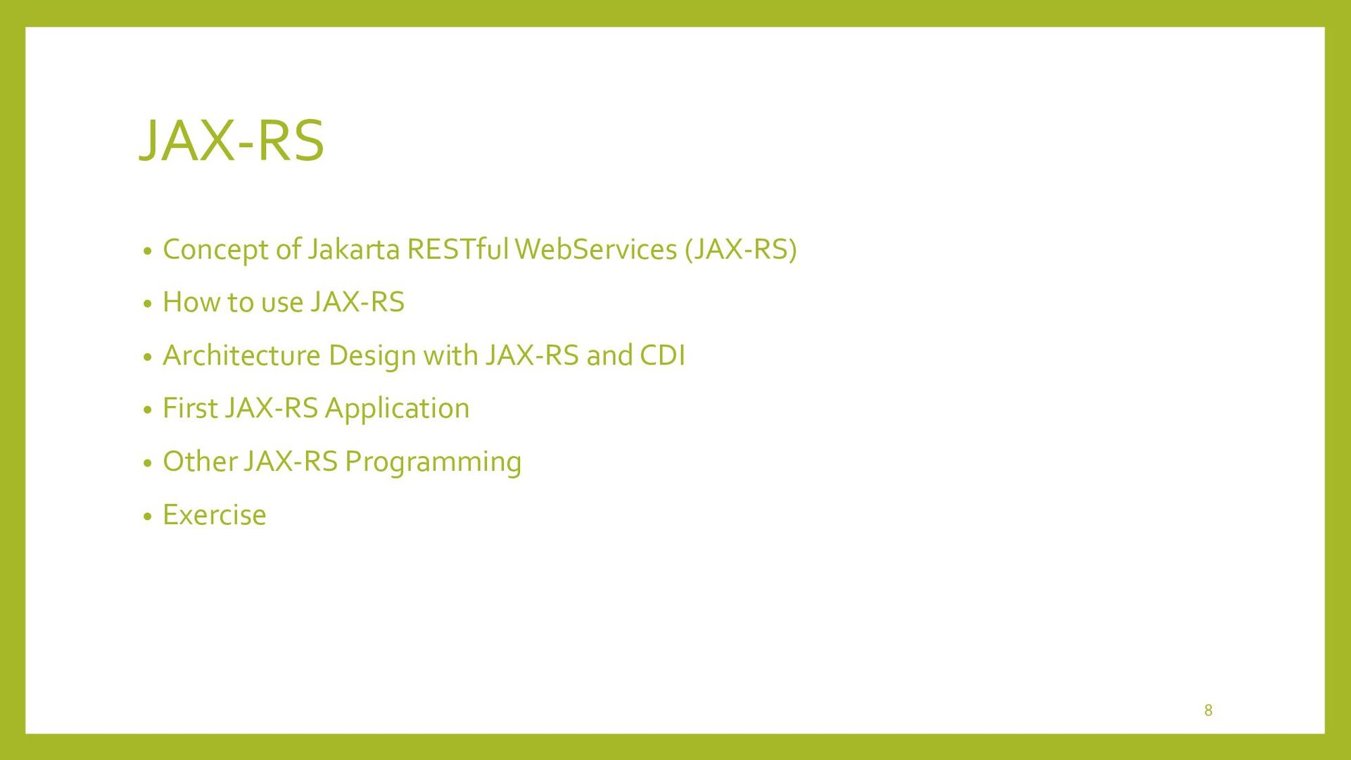 Concept of Jakarta RESTful WebServices (JAX-RS)...