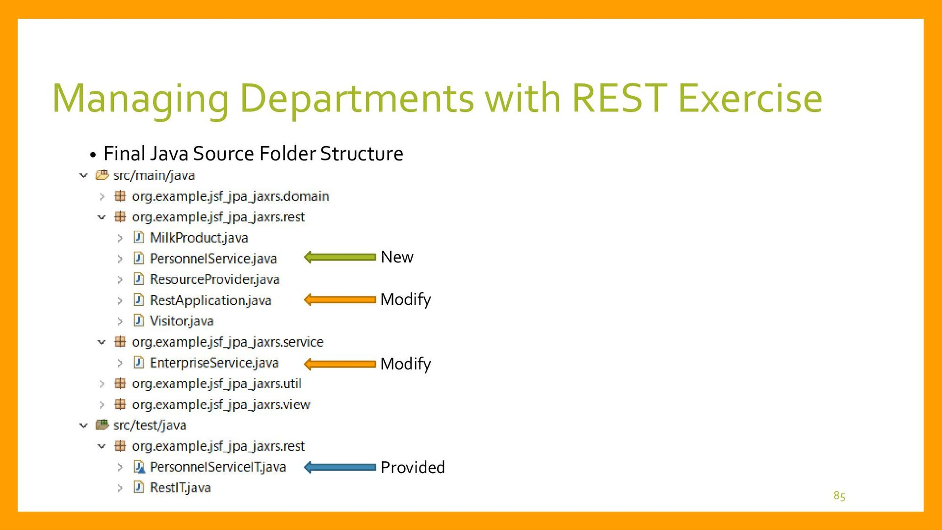 Exercise for Managing Departments with REST • P...