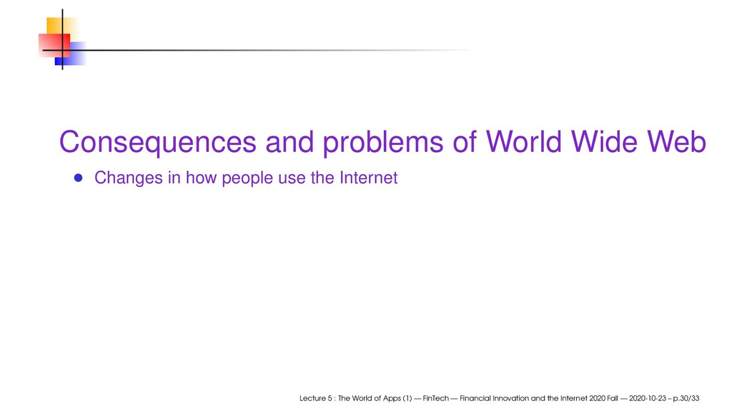 Consequences and problems of World Wide Web Cha...