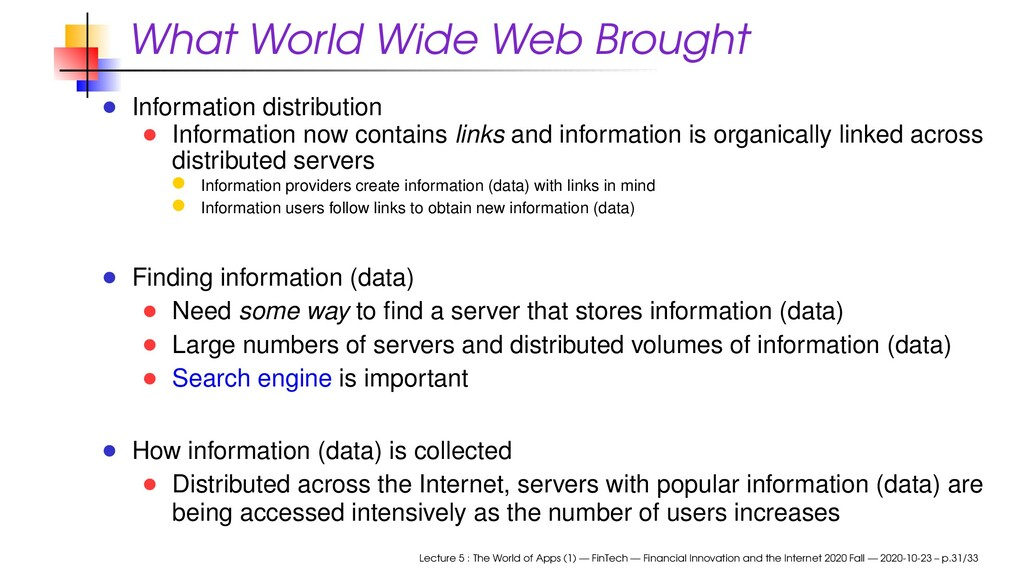 What World Wide Web Brought Information distrib...