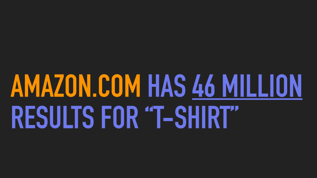 """AMAZON.COM HAS 46 MILLION RESULTS FOR """"T-SHIRT"""""""