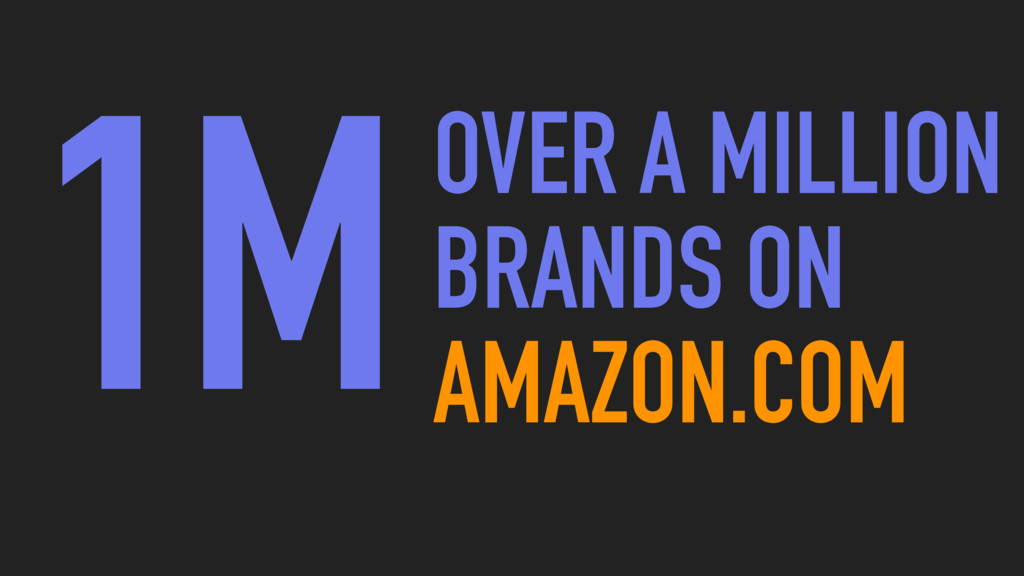 1MOVER A MILLION BRANDS ON AMAZON.COM