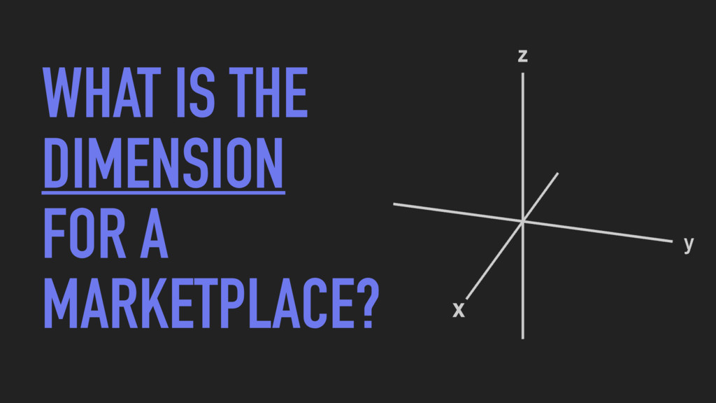WHAT IS THE DIMENSION FOR A MARKETPLACE?
