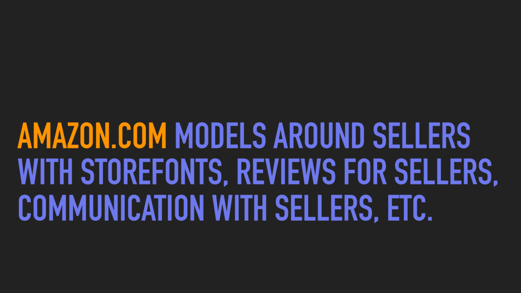 AMAZON.COM MODELS AROUND SELLERS WITH STOREFONT...