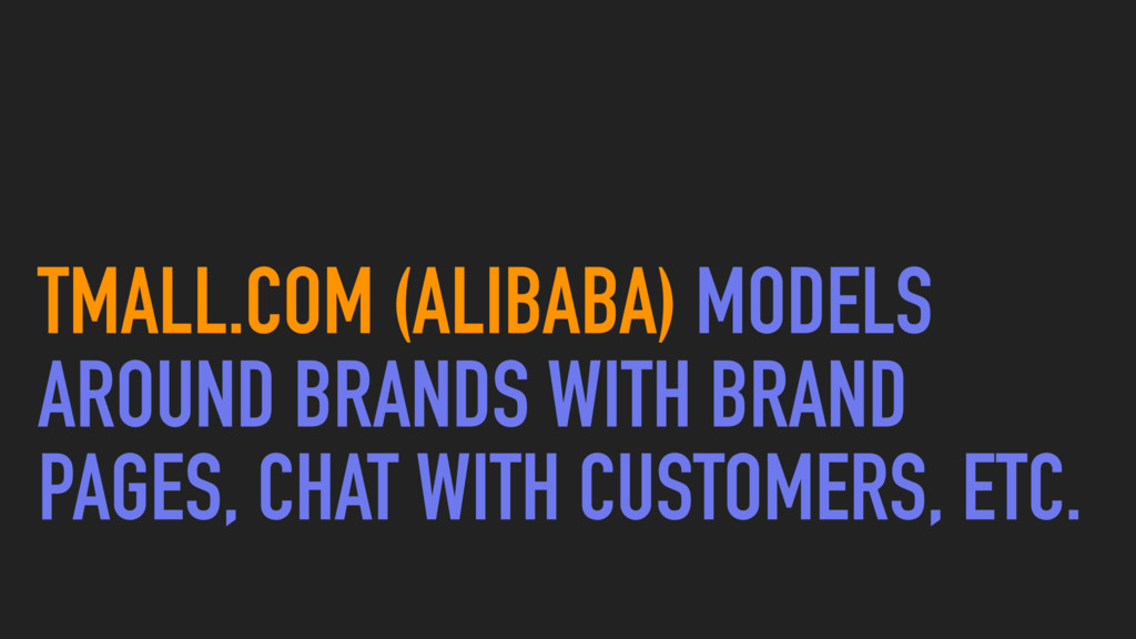 TMALL.COM (ALIBABA) MODELS AROUND BRANDS WITH B...