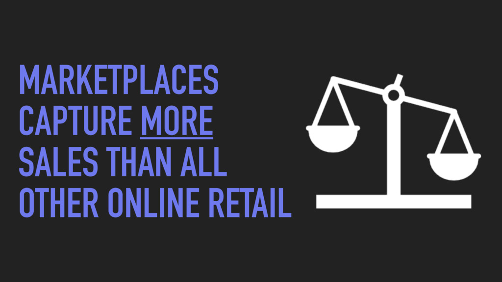 MARKETPLACES CAPTURE MORE SALES THAN ALL OTHER ...