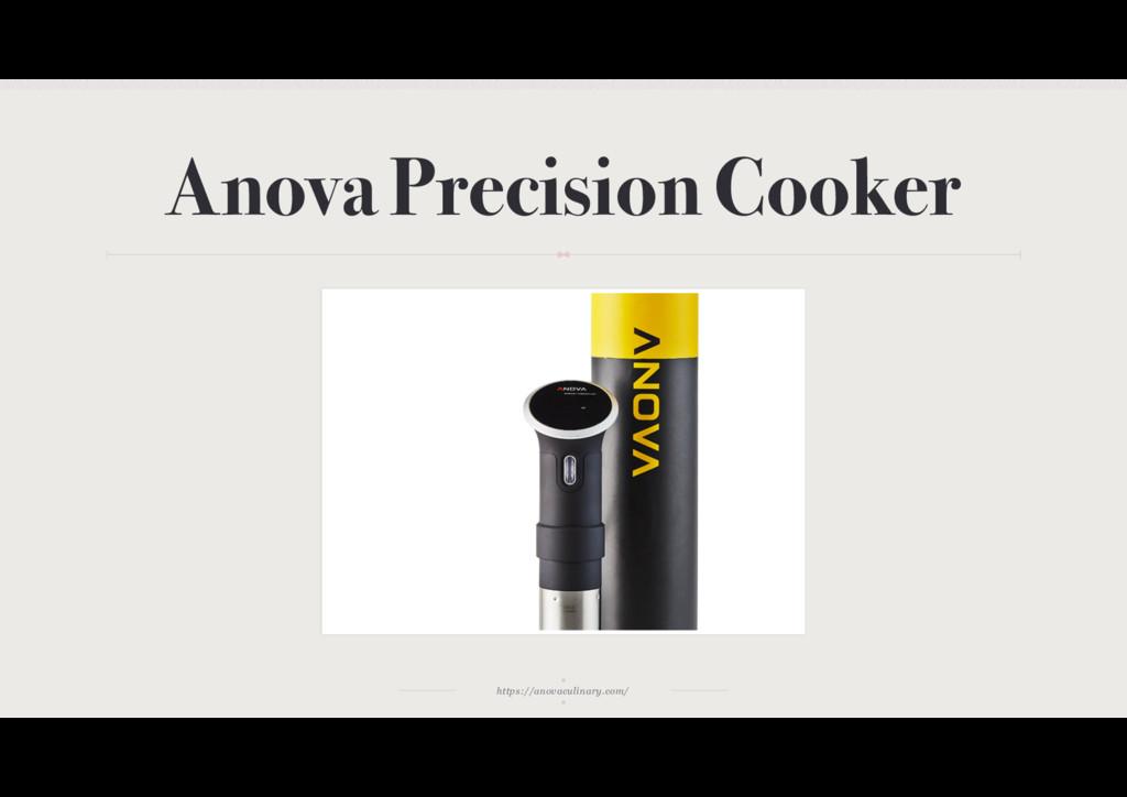 https://anovaculinary.com/ Anova Precision Cook...