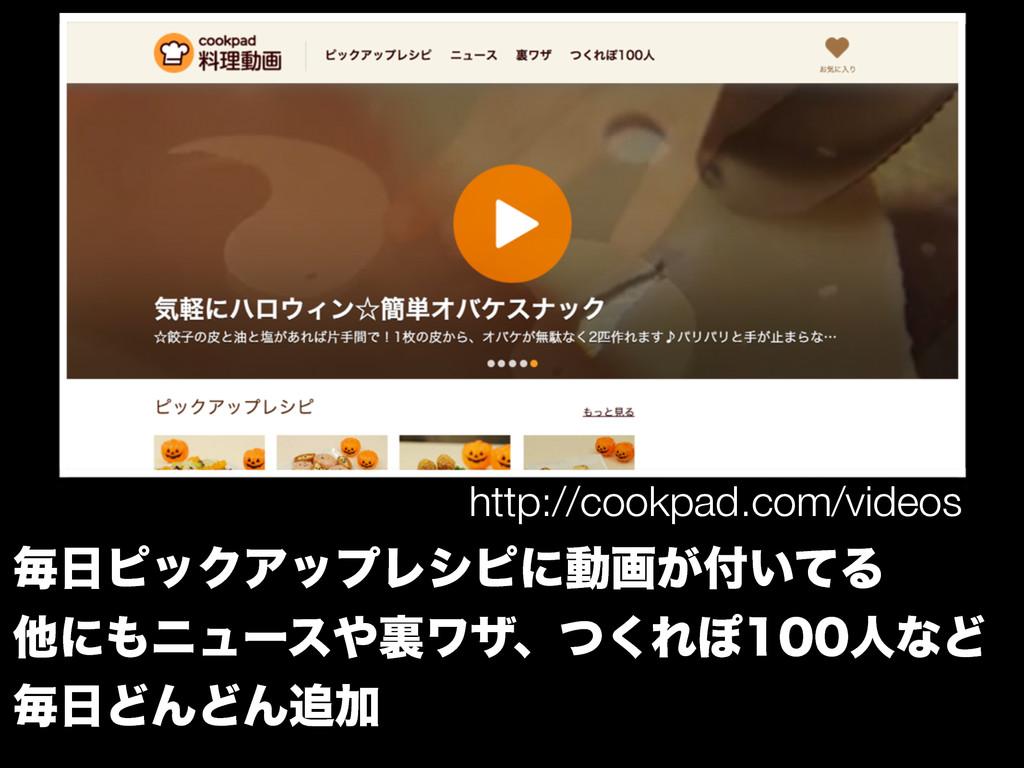 http://cookpad.com/videos ຖϐοΫΞοϓϨγϐʹಈը͕͍ͯΔ ...