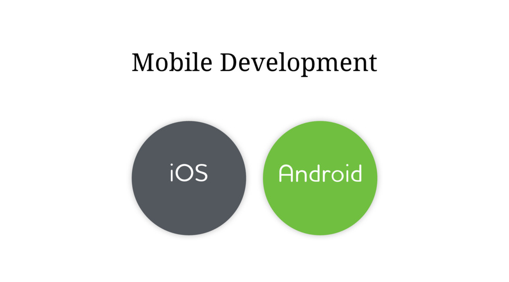 iOS Android Mobile Development