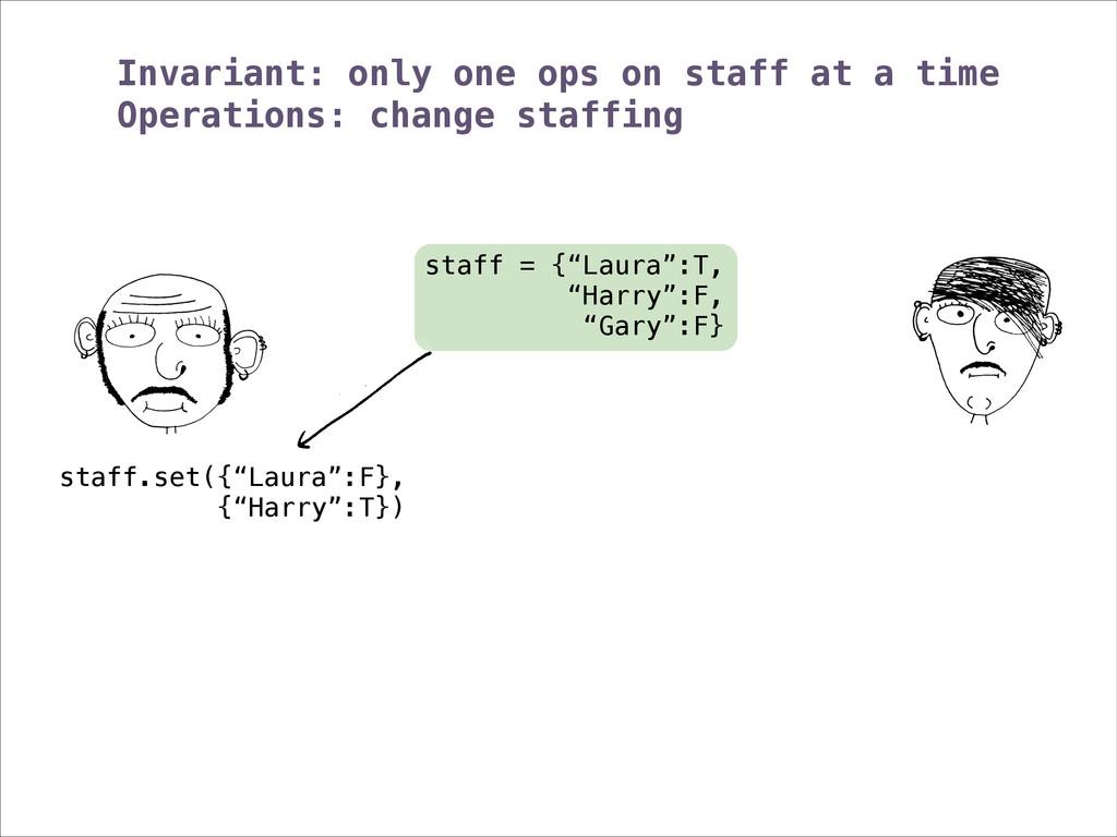 """staff = {""""Laura"""":T, """"Harry"""":F, """"Gary"""":F} staff...."""