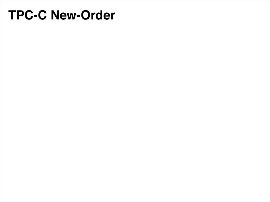 TPC-C New-Order