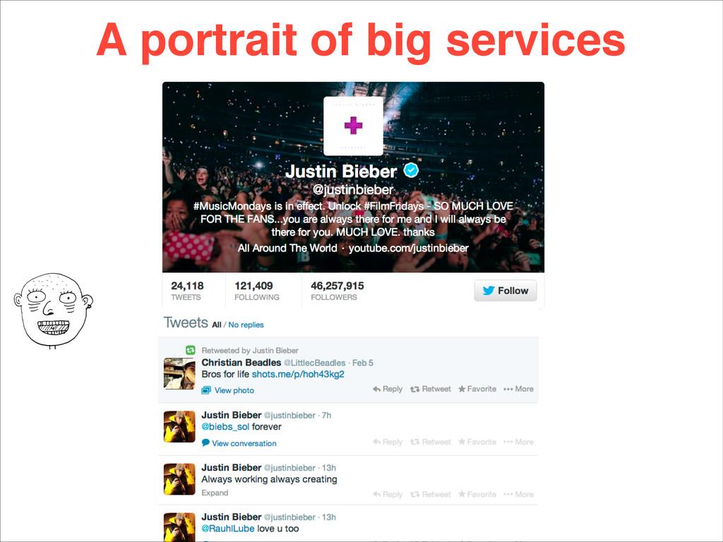 A portrait of big services