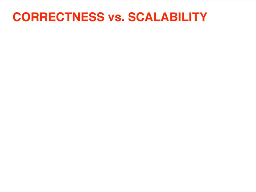 CORRECTNESS vs. SCALABILITY