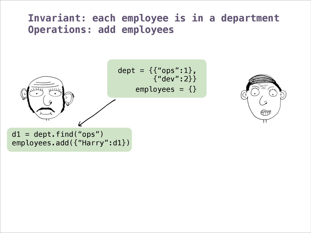 """employees = {} dept = {{""""ops"""":1}, {""""dev"""":2}} In..."""