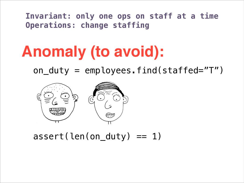 """on_duty = employees.find(staffed=""""T"""") ! assert(..."""