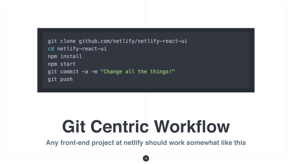 Git Centric Workflow Any front-end project at ne...
