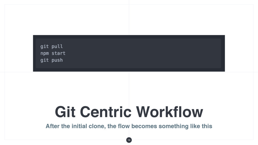 Git Centric Workflow After the initial clone, th...