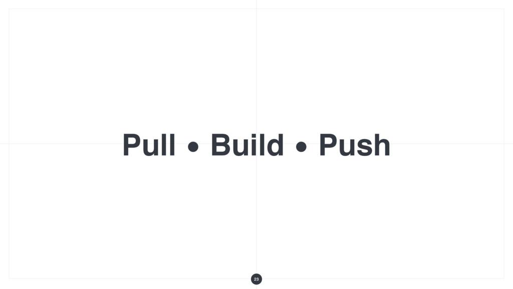 Pull • Build • Push 23