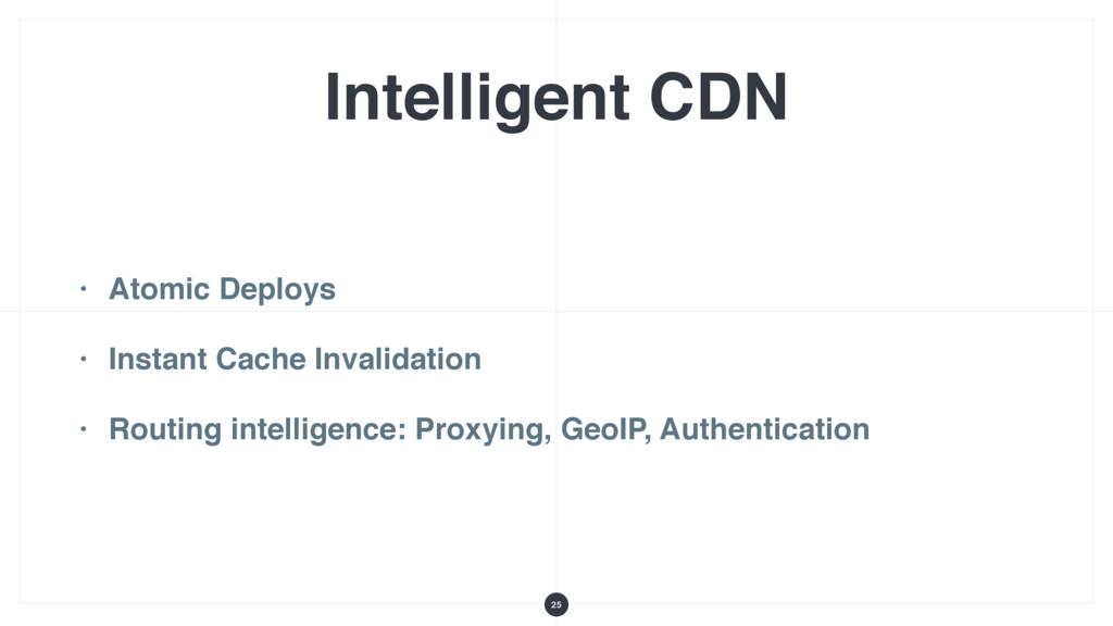 Intelligent CDN • Atomic Deploys • Instant Cach...