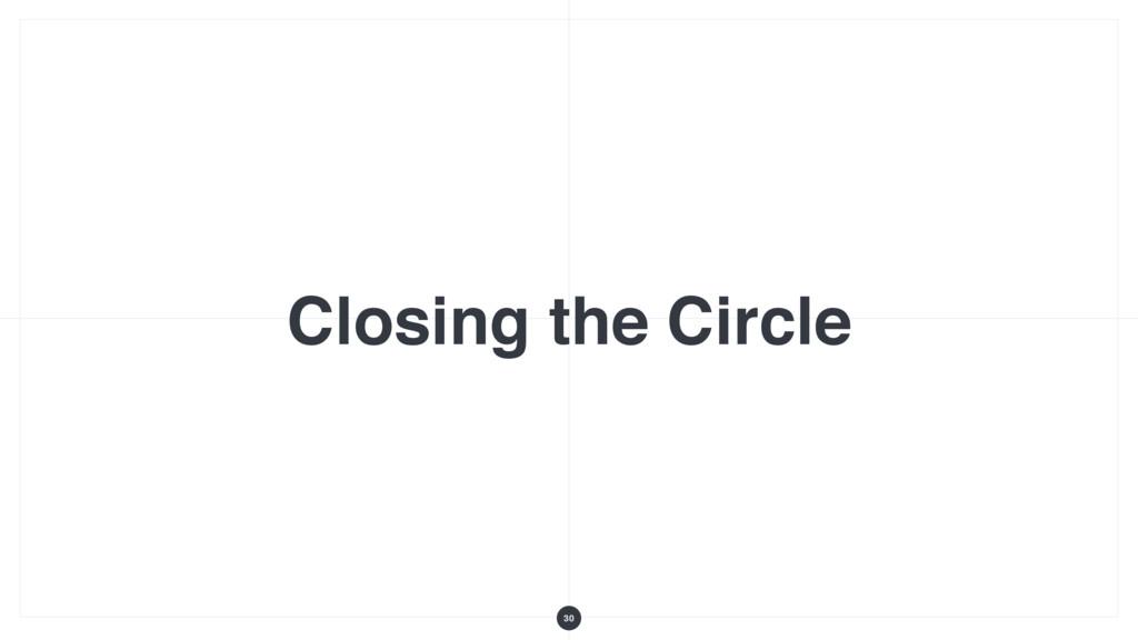 Closing the Circle 30