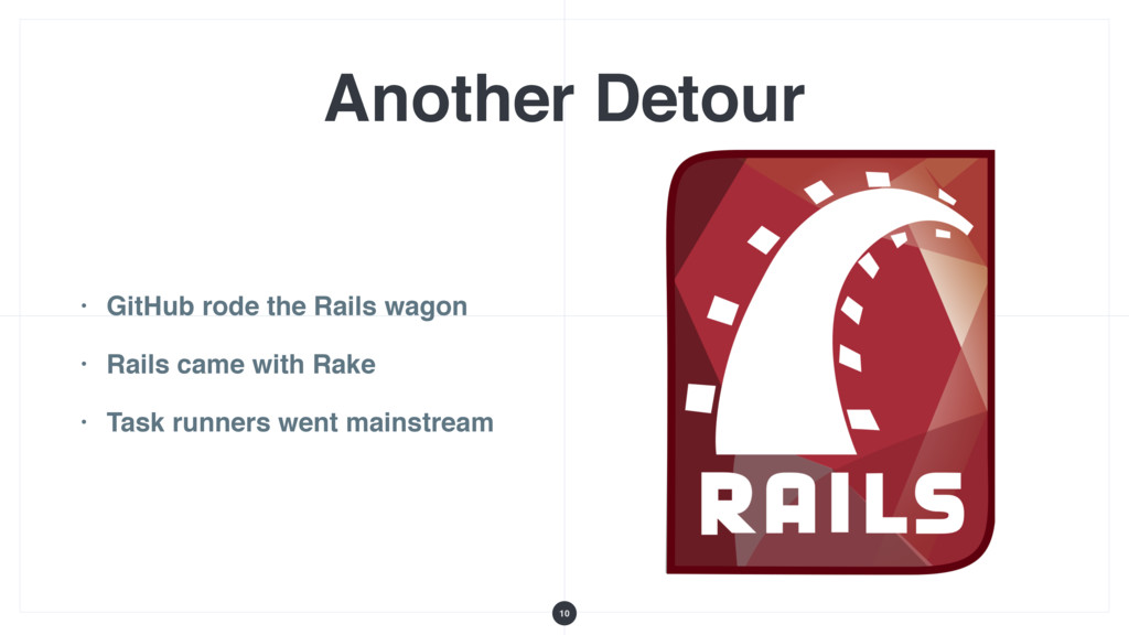 Another Detour • GitHub rode the Rails wagon • ...
