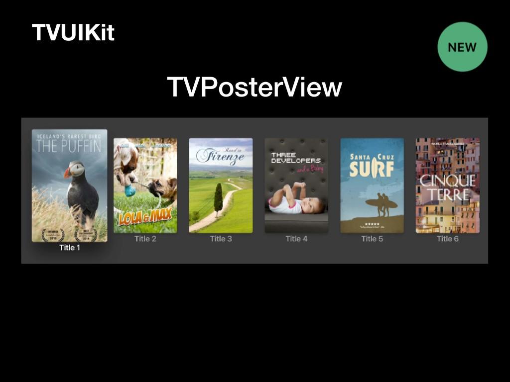 TVUIKit TVPosterView