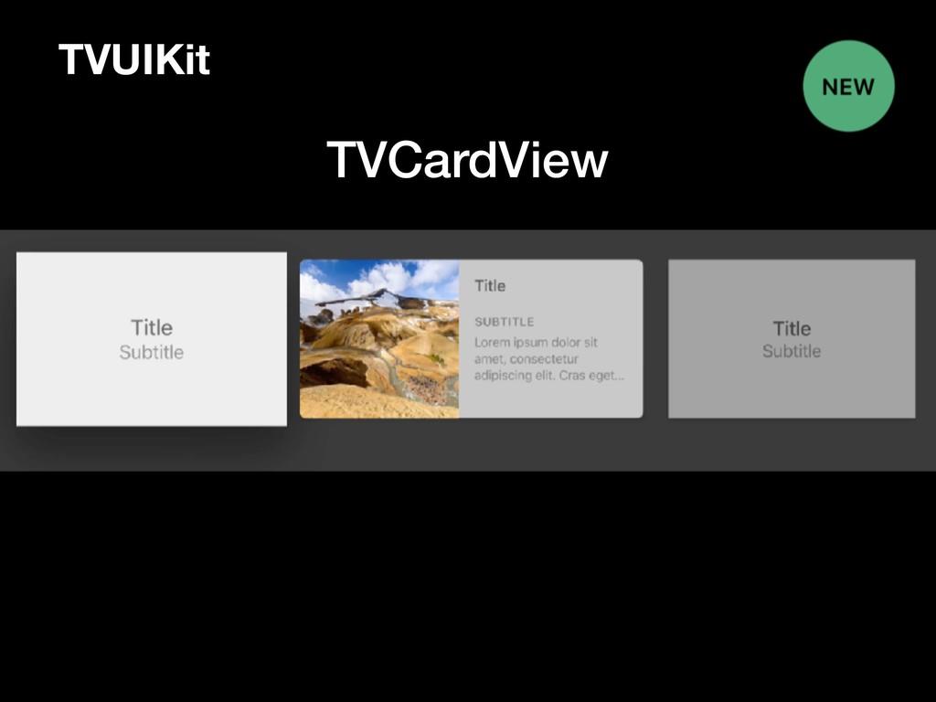TVUIKit TVCardView