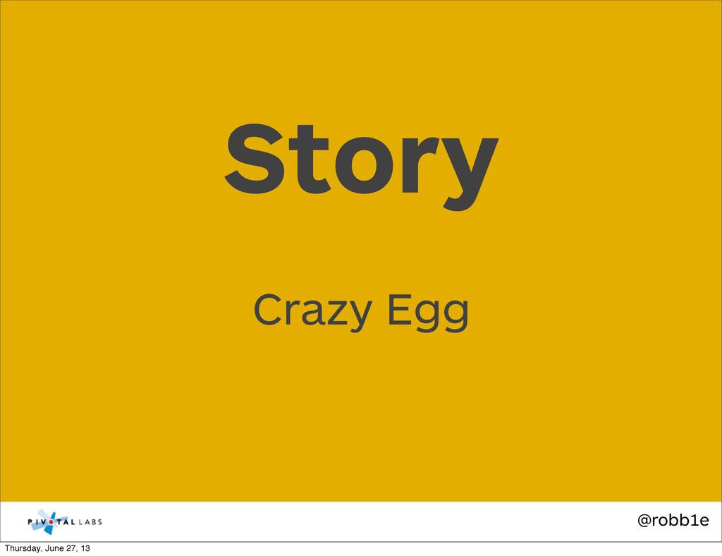 @robb1e Crazy Egg Story Thursday, June 27, 13