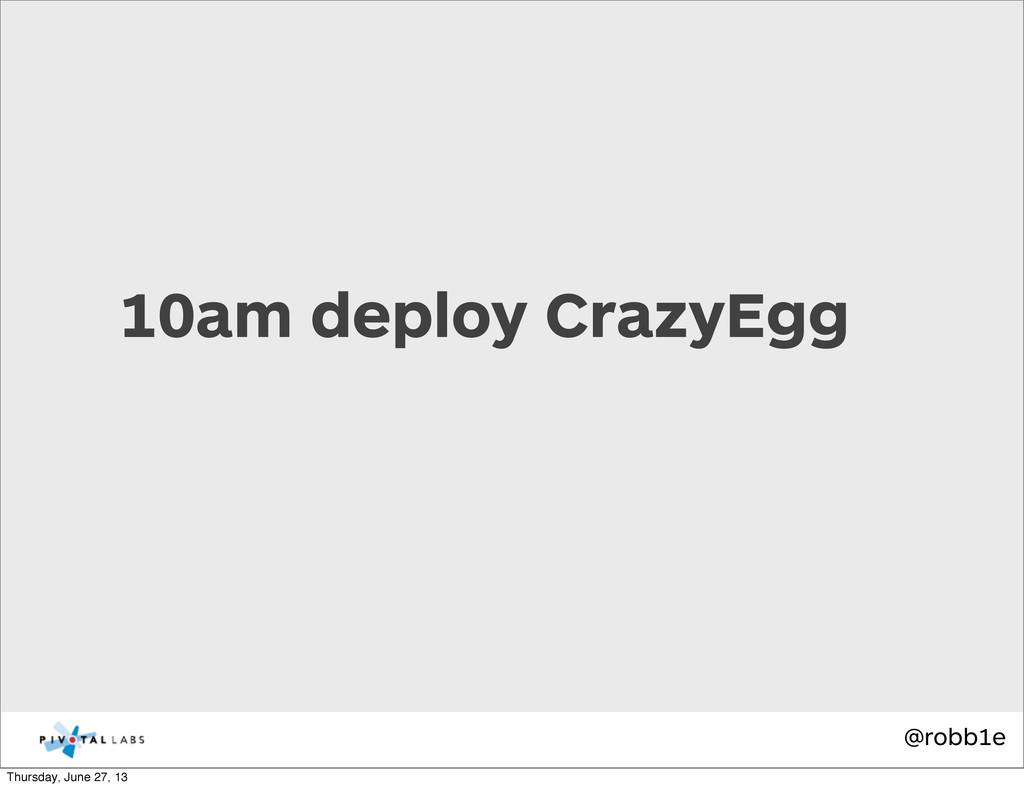 @robb1e 10am deploy CrazyEgg Thursday, June 27,...