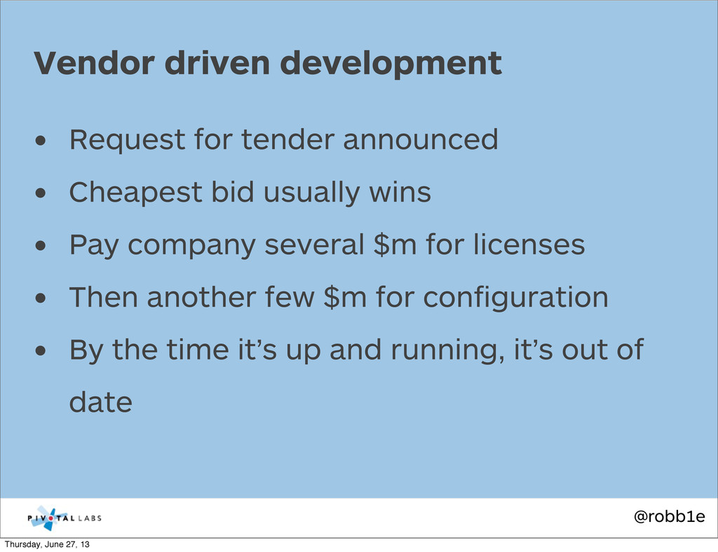 @robb1e • Request for tender announced • Cheape...