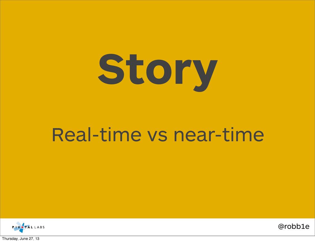 @robb1e Real-time vs near-time Story Thursday, ...