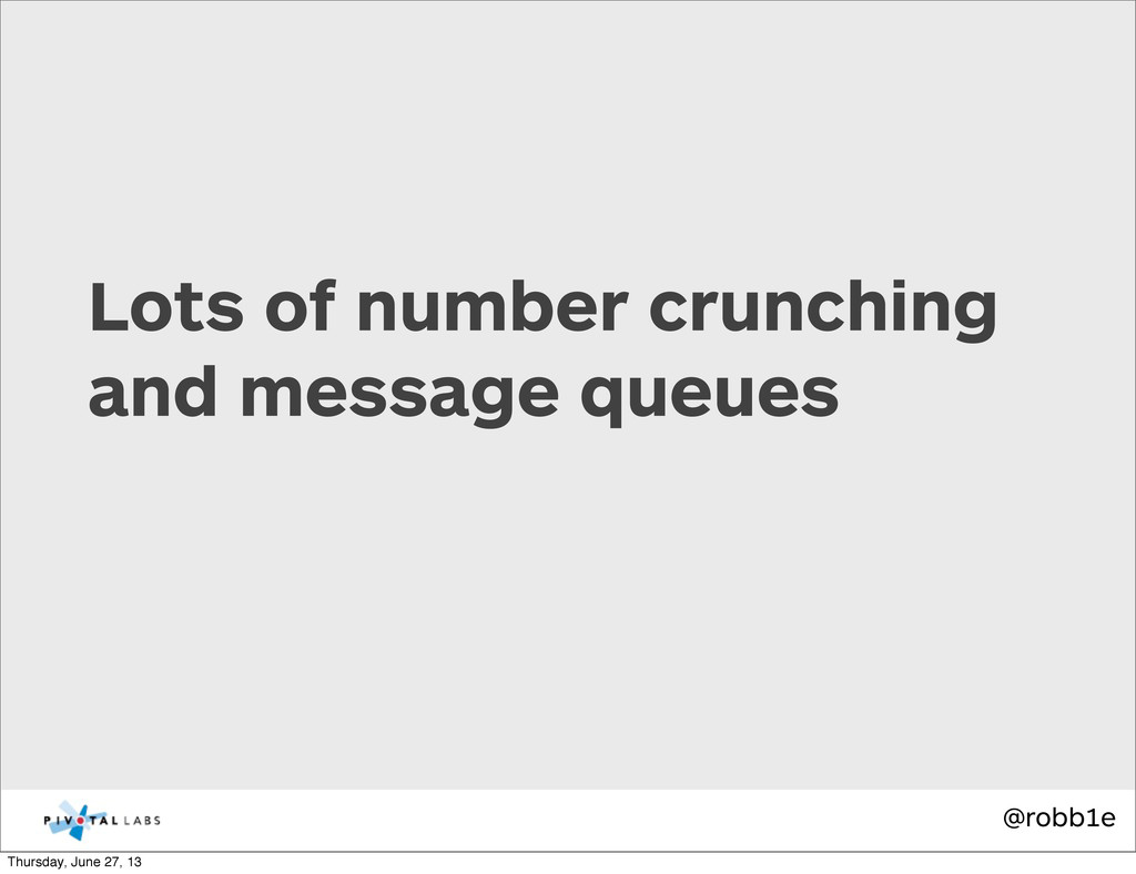 @robb1e Lots of number crunching and message qu...