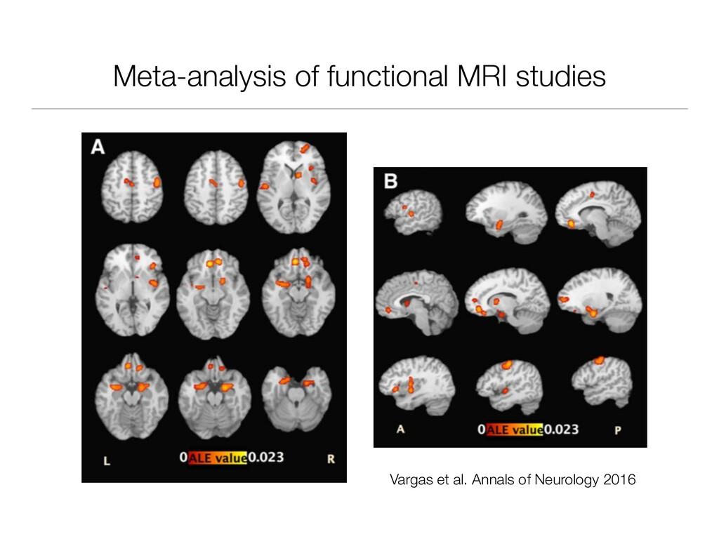 Meta-analysis of functional MRI studies Vargas ...