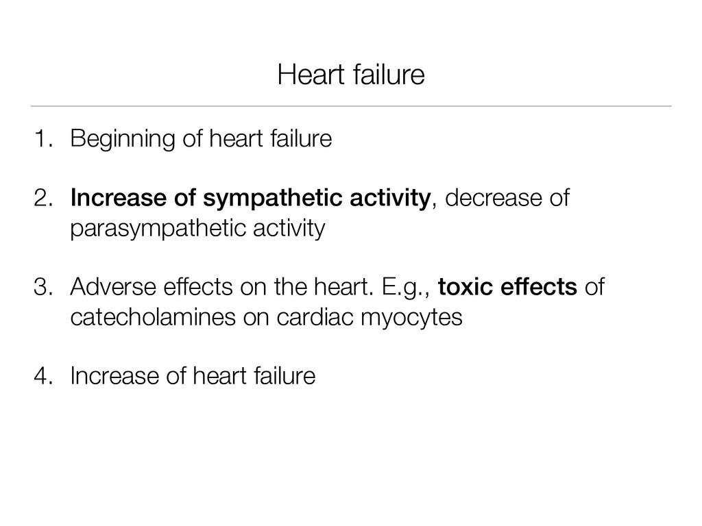 Heart failure 1. Beginning of heart failure 2. ...