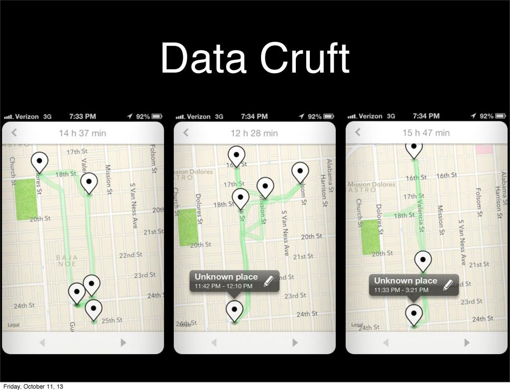 Data Cruft Friday, October 11, 13