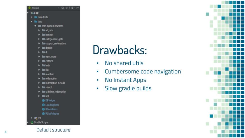 4 Default structure Drawbacks: ▪ No shared util...