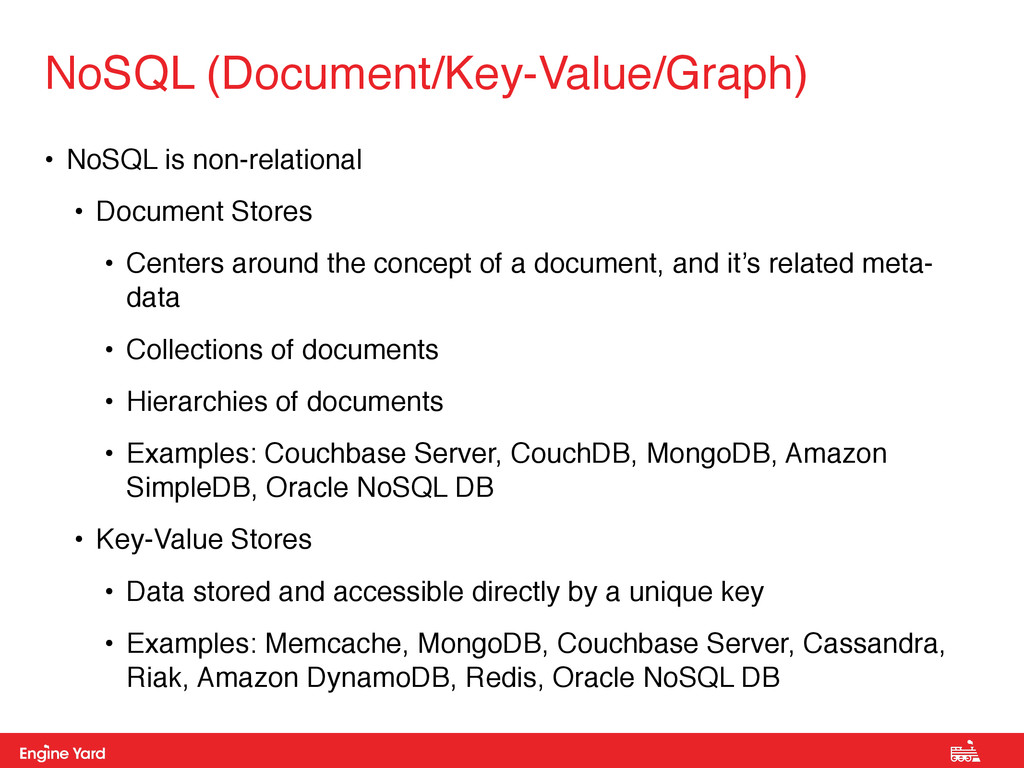Proprietary and Confidential • NoSQL is non-rel...