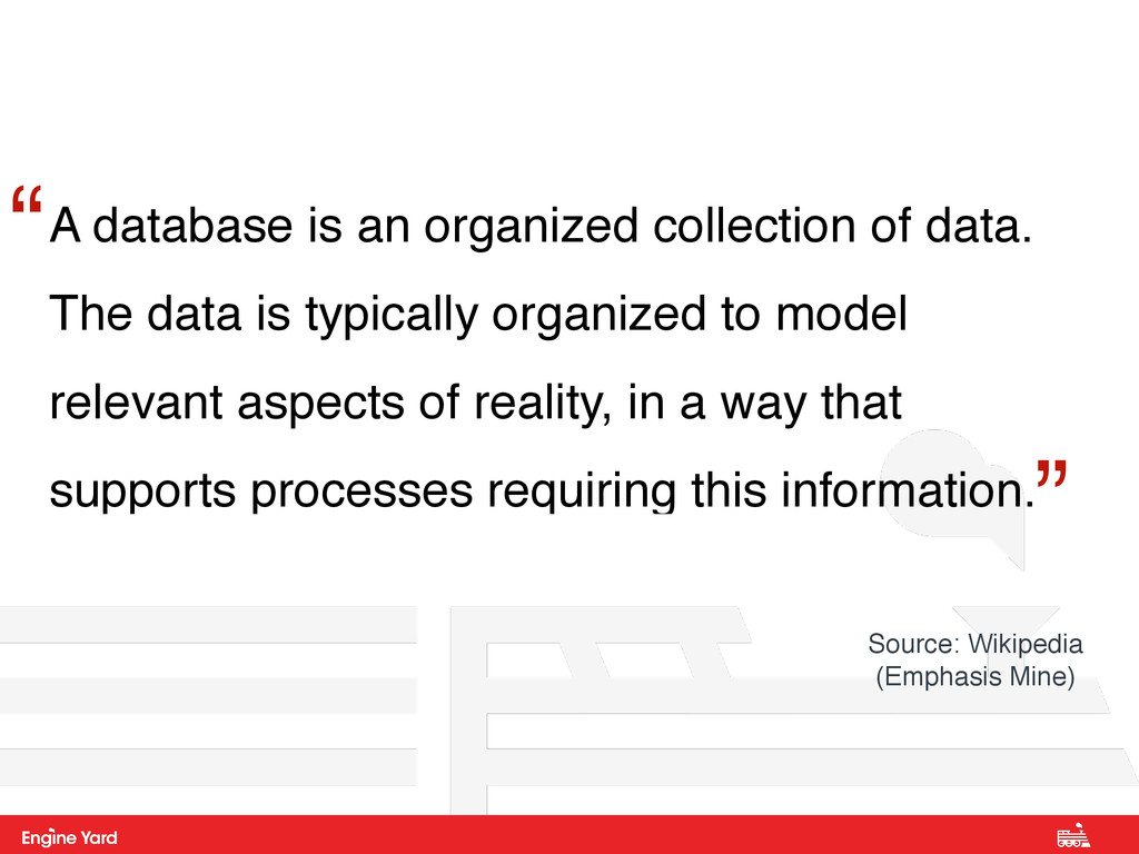 A database is an organized collection of data. ...