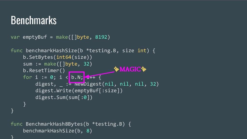 Benchmarks var emptyBuf = make([]byte, 8192) fu...