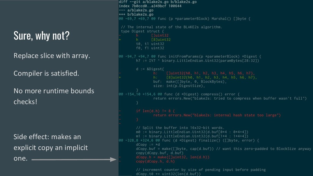 Sure, why not? Replace slice with array. Compil...