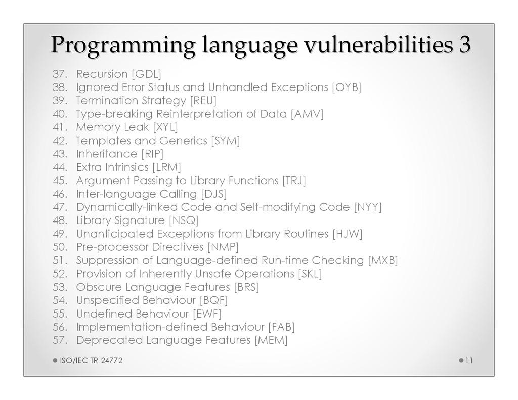 Programming language vulnerabilities 3 Programm...