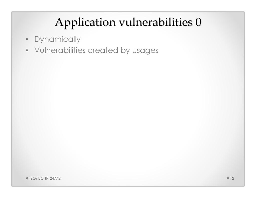 Application vulnerabilities 0 Application vulne...