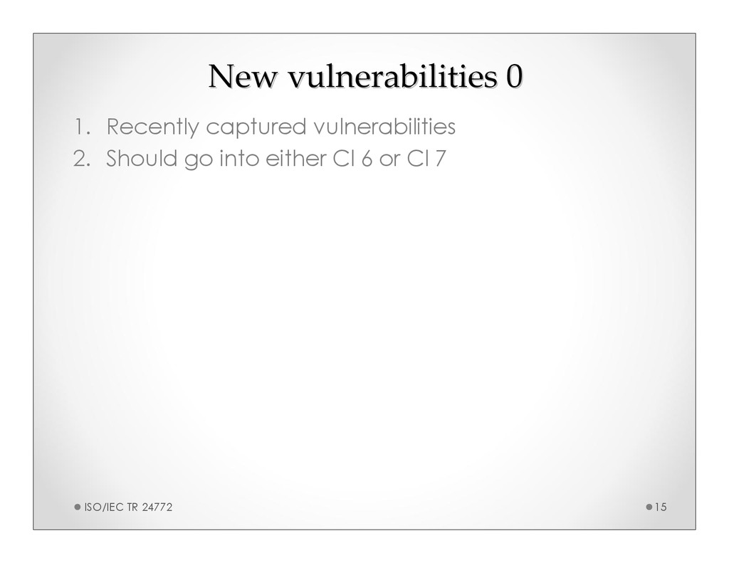 New vulnerabilities 0 New vulnerabilities 0 1. ...