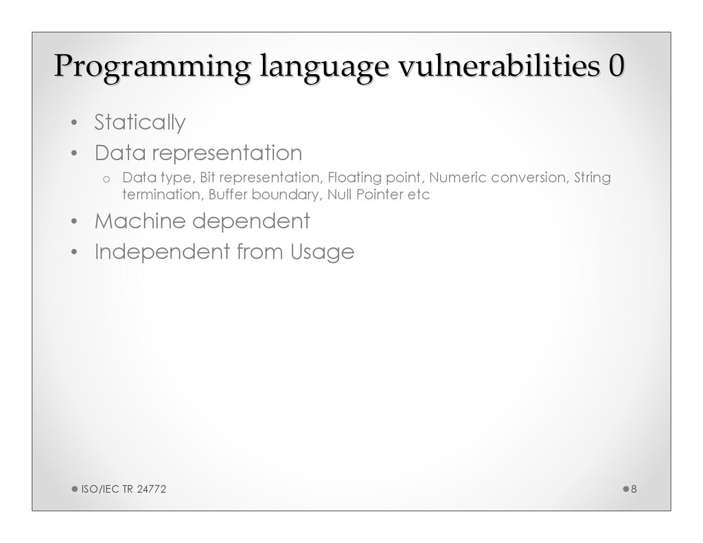 Programming language vulnerabilities 0 Programm...