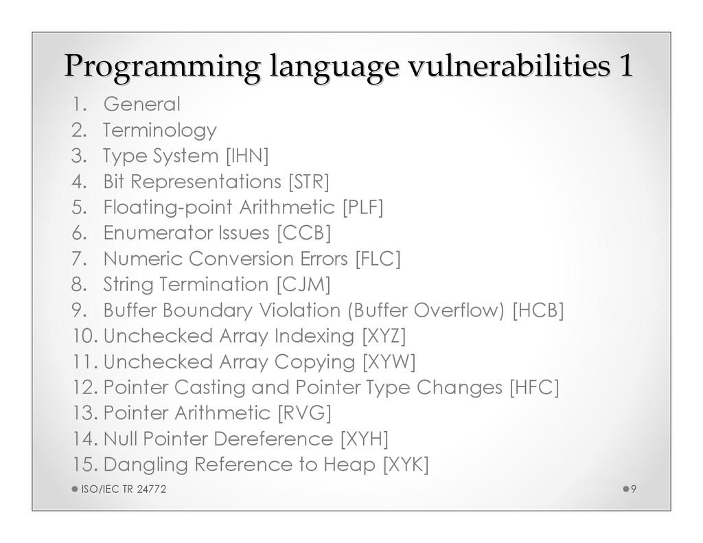 Programming language vulnerabilities 1 Programm...